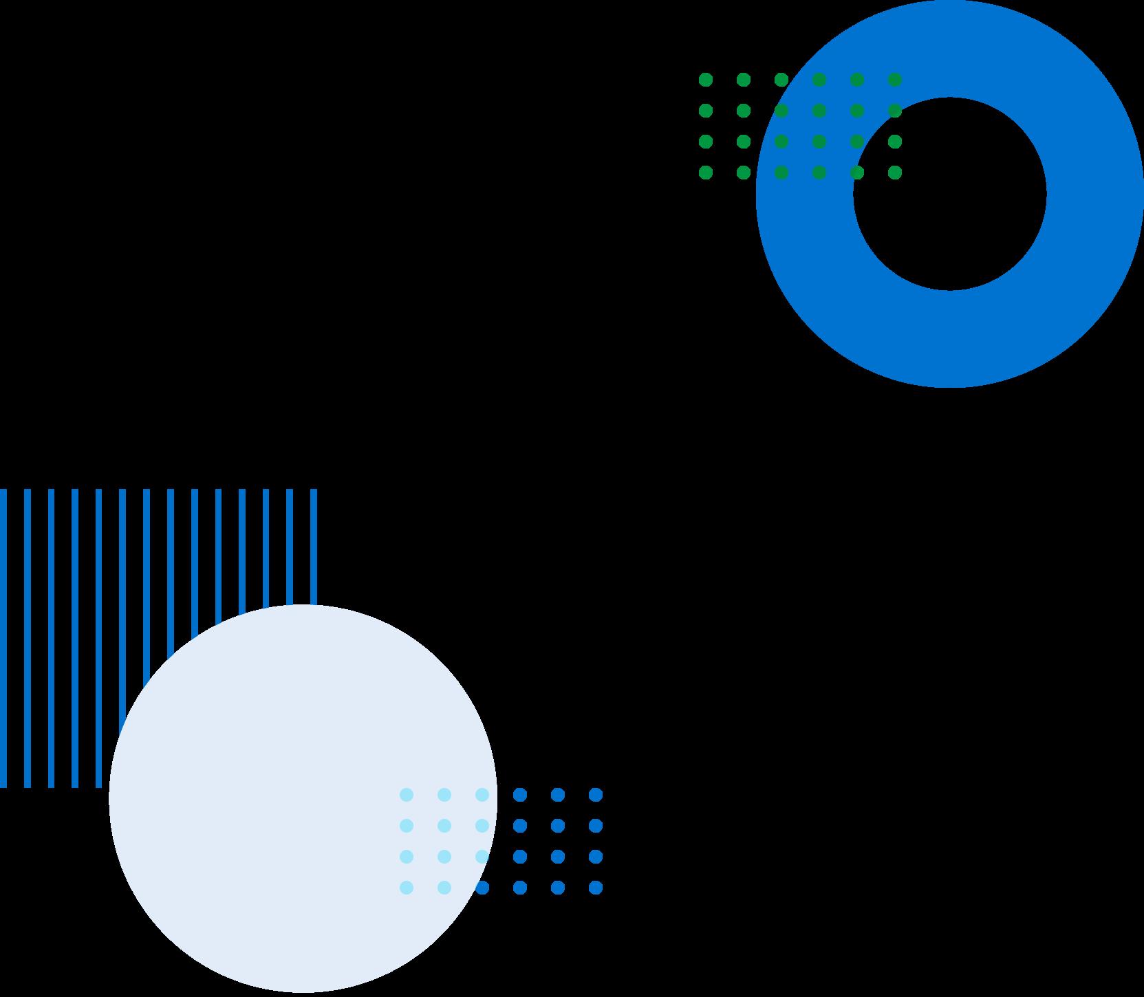 circular and square animated symbols