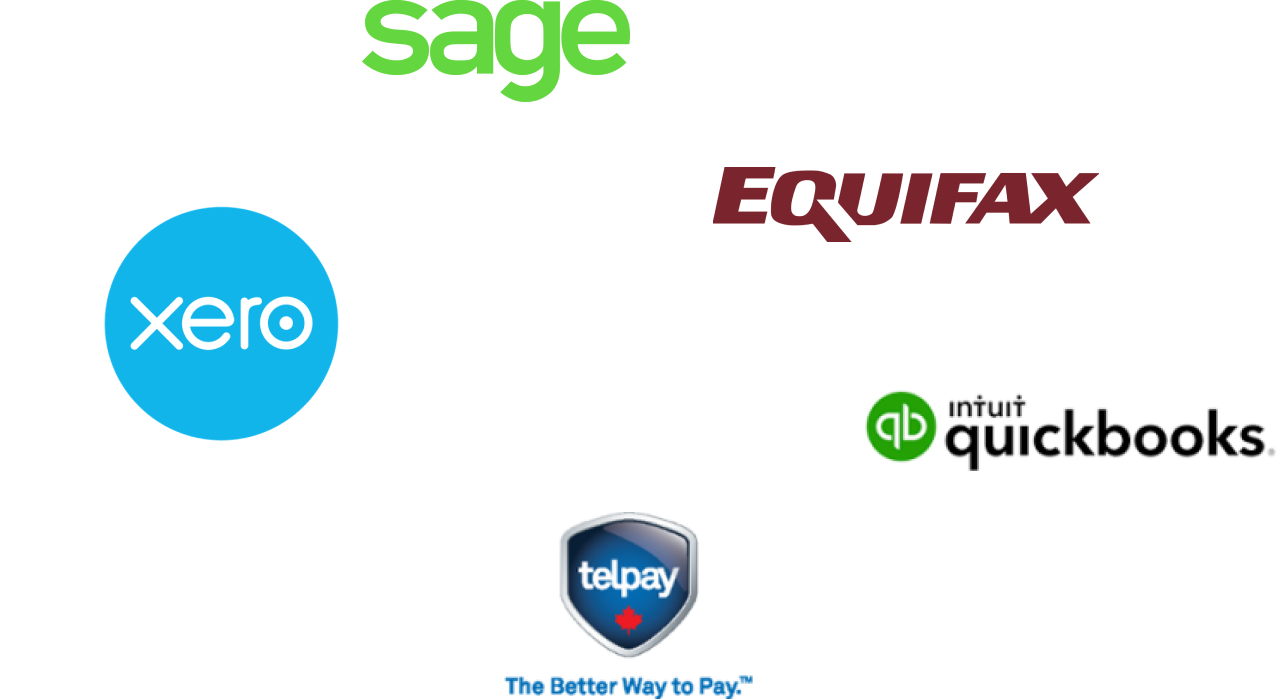 PayTickr integrations: Sage, Equifax, QuickBooks, Telpay, and Xero