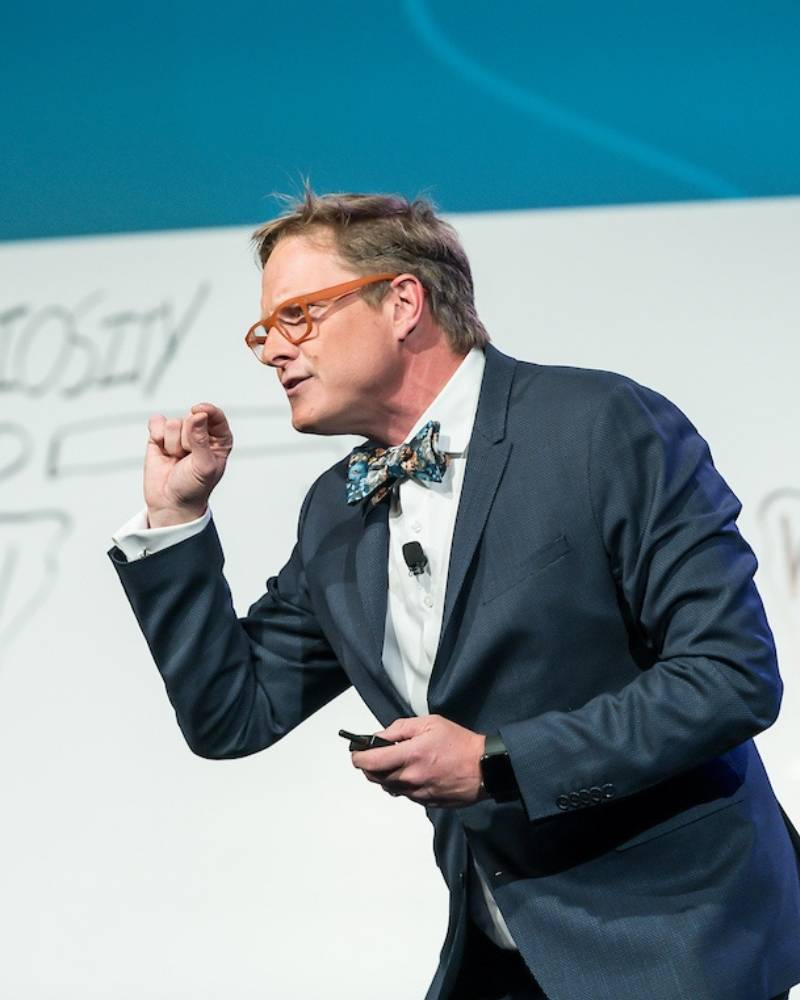 Andrew Davis speaking at a Marketing Event