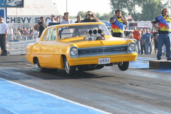 yellow car at launch