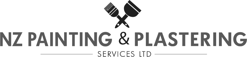 NZ Painting & Plastering logo black & white