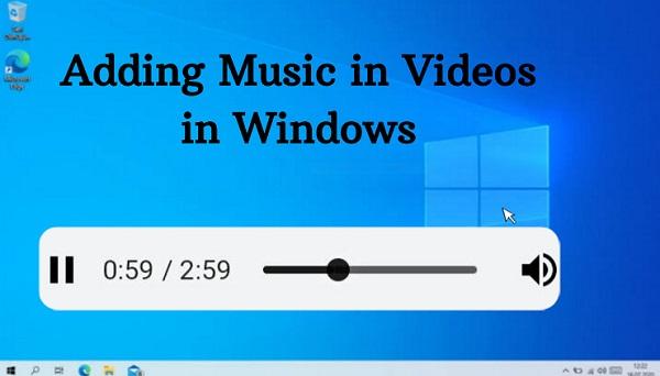 Adding music in Videos in Windows