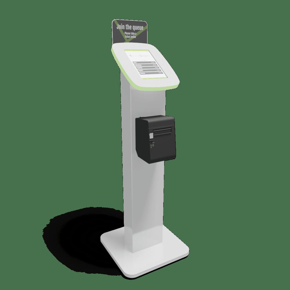 ticket kiosk standing