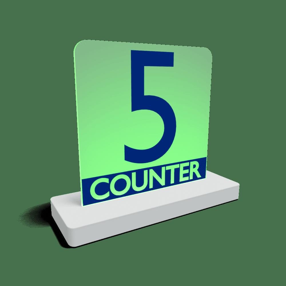 queue counter indicator