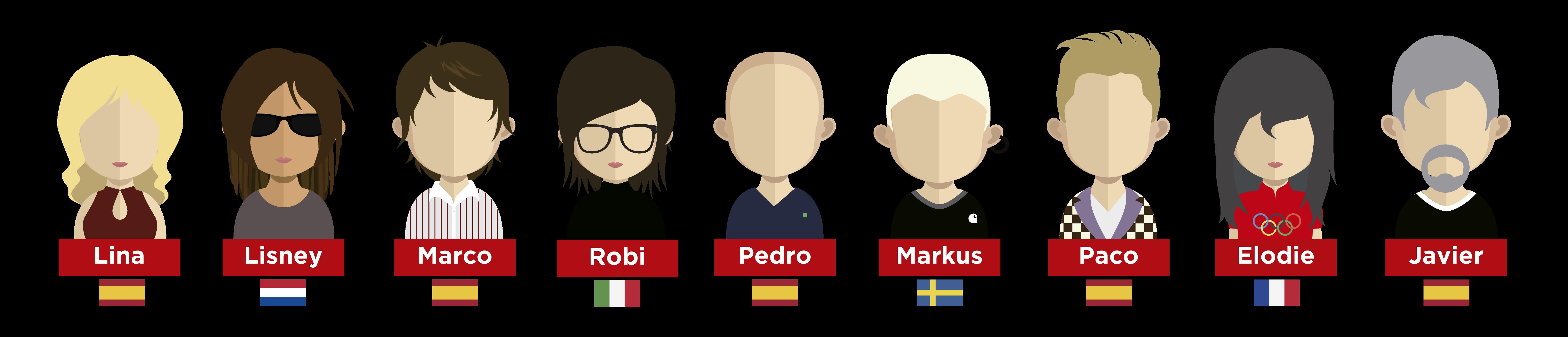 Miembros de la Comunidad Mosaiker desde que abrimos en 2016 hasta estos dias.