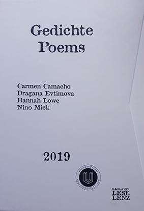 Portada libro gedichte poems