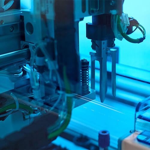 a high-tech manufacturing machine