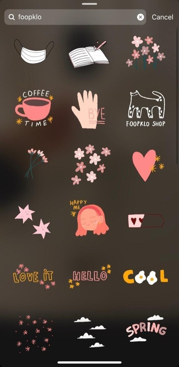 Cute Instagram Stickers to Make your Stories Aesthetic - Dana Berez