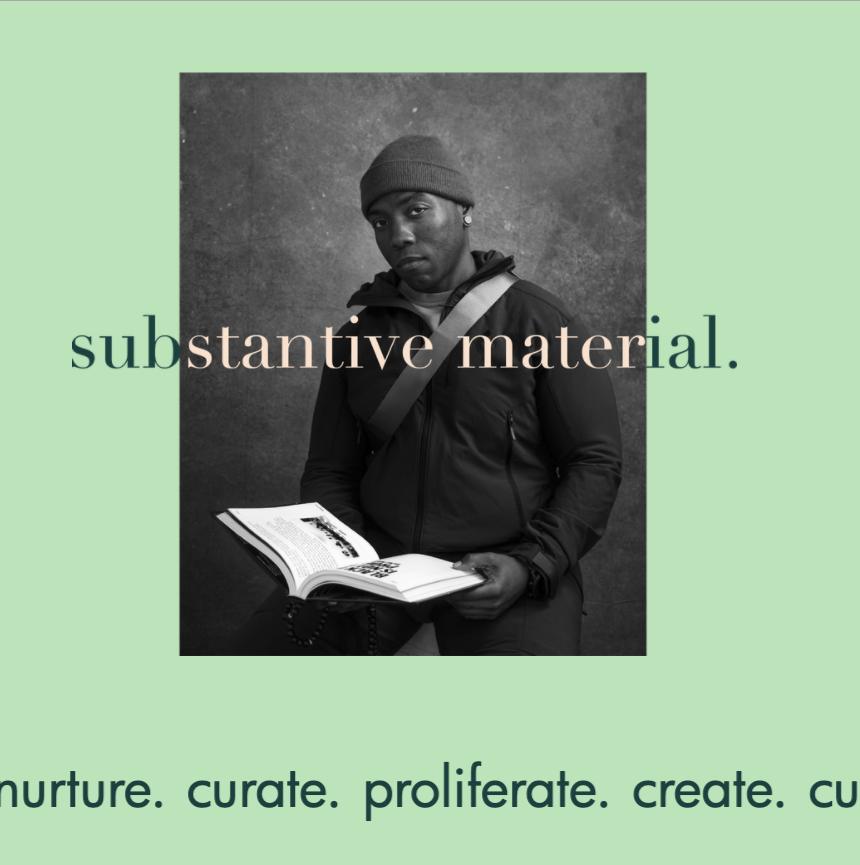 Substantive Material hero section website screenshot