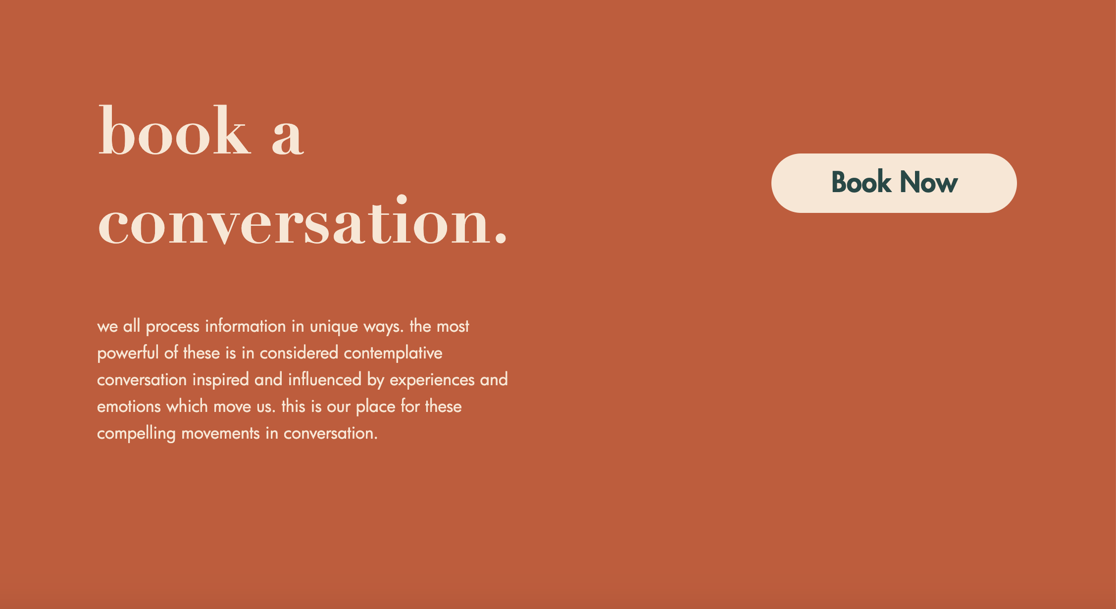 Substantive Material contact section website screenshot