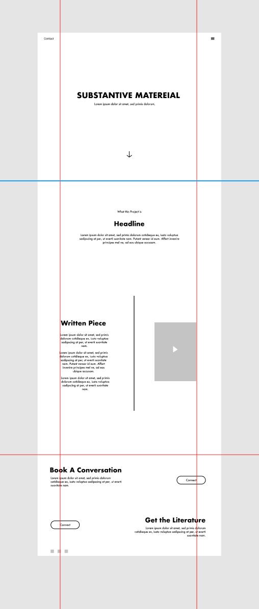 Substantive Material website wireframe screenshot