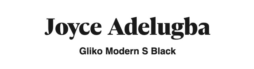 Logo font samples