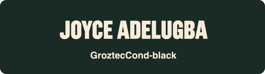 Alternative font sample