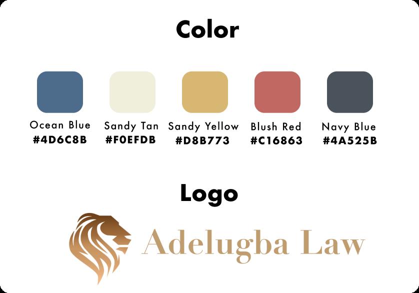 Adelugba Law Color Palate
