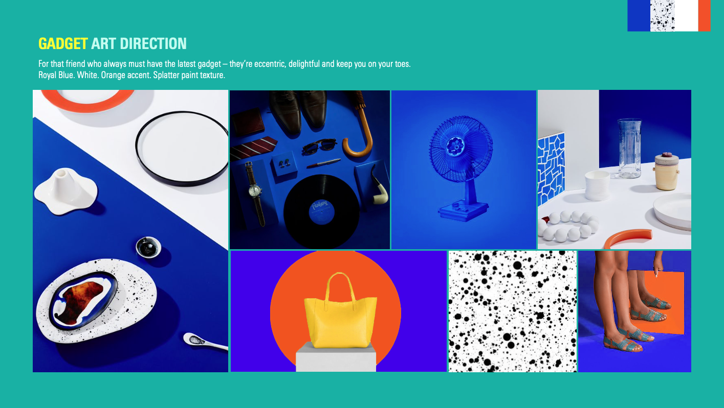 "Assorted photos showing ""Gadget Art Direction"""