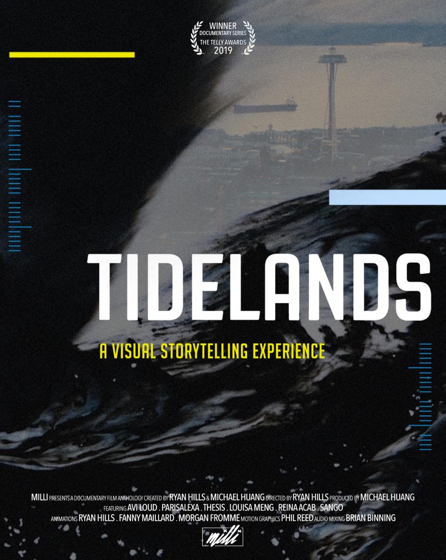 Tidelands poster showing awards and cast