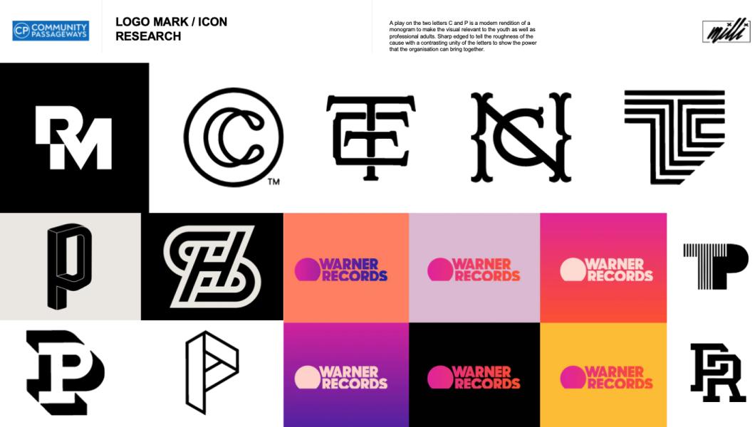 Screenshot of logo inspiration for brand