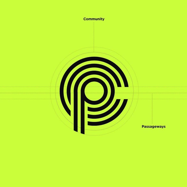 Community Passageways logo (concentric circles form a C and P)