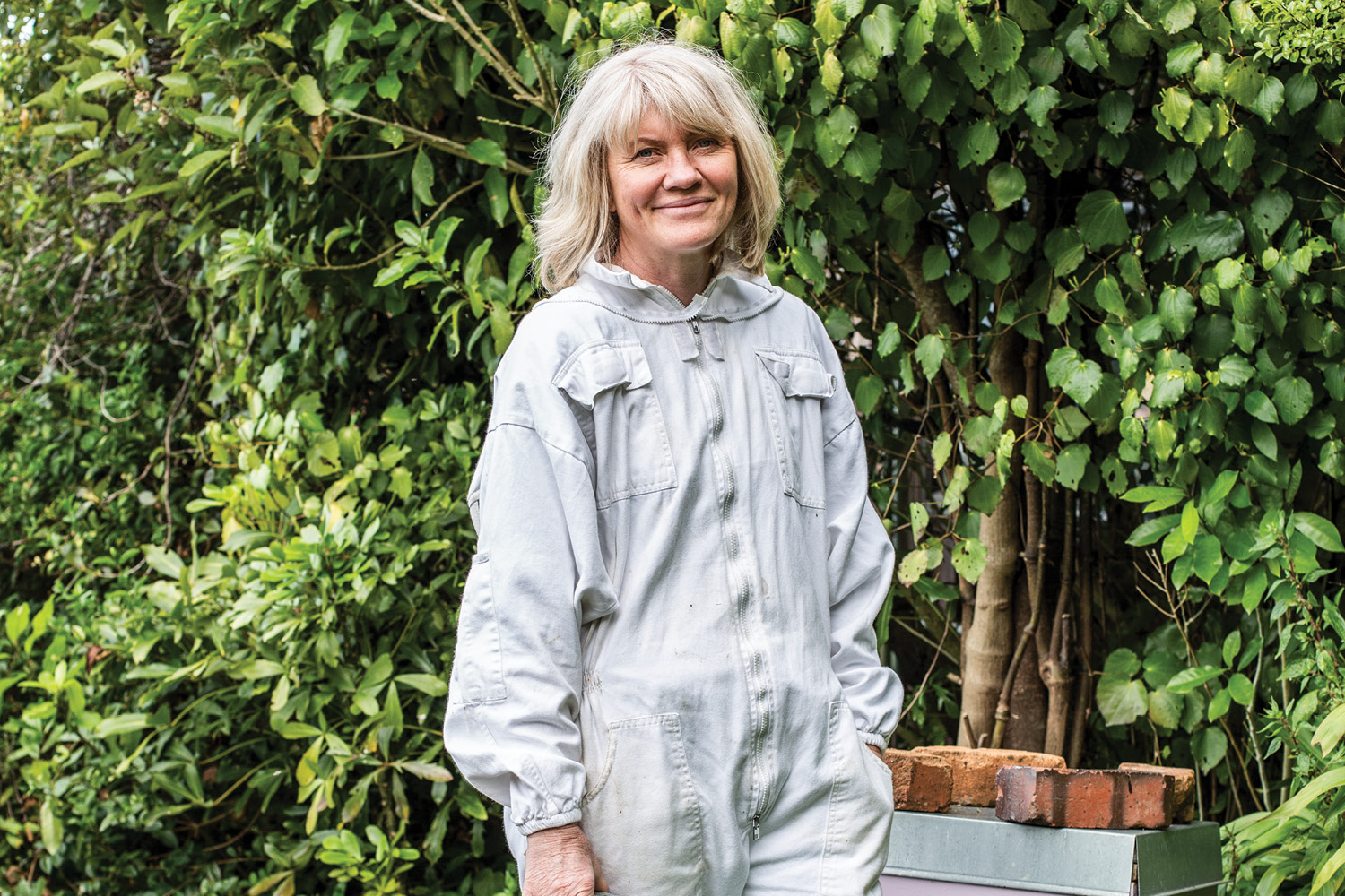 Dawn Baggaley in her garden