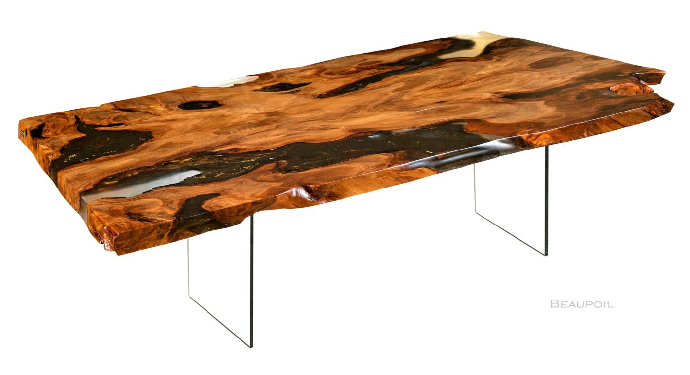 Holztisch, exklusiv und einzigartig als Wertanlage, ein Kauri Wurzel Esstisch aus seltenem Baumstamm, Kapitalanlage Unikat Naturholztisch und limitiertes Einzelstück kaufen
