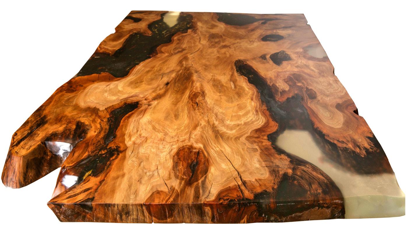 Wertvoller Kauri Wurzel Holztisch als langfristige Wertanlage mit Alterszertifikat, ein exklusiver Esstisch ein Stück Holz und einzigartiges Kunst Unikatmöbel