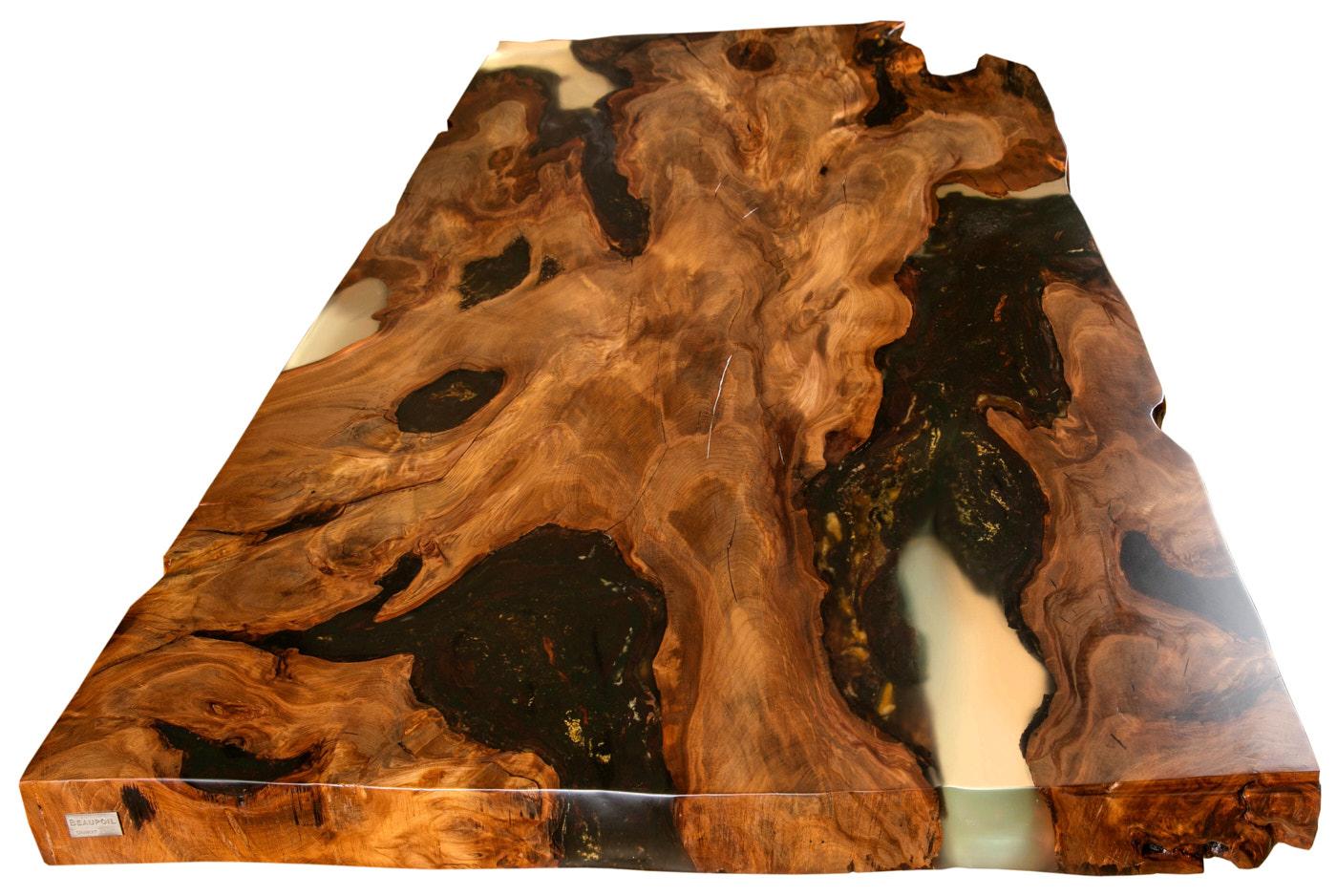 Kauri Holztisch ist ein Unikat Esstisch und wertvolle Sachwertanlage oder exklusive Wertanlage,  hochwertige Tischplatte, Geldanlage kostbares Einzelstück