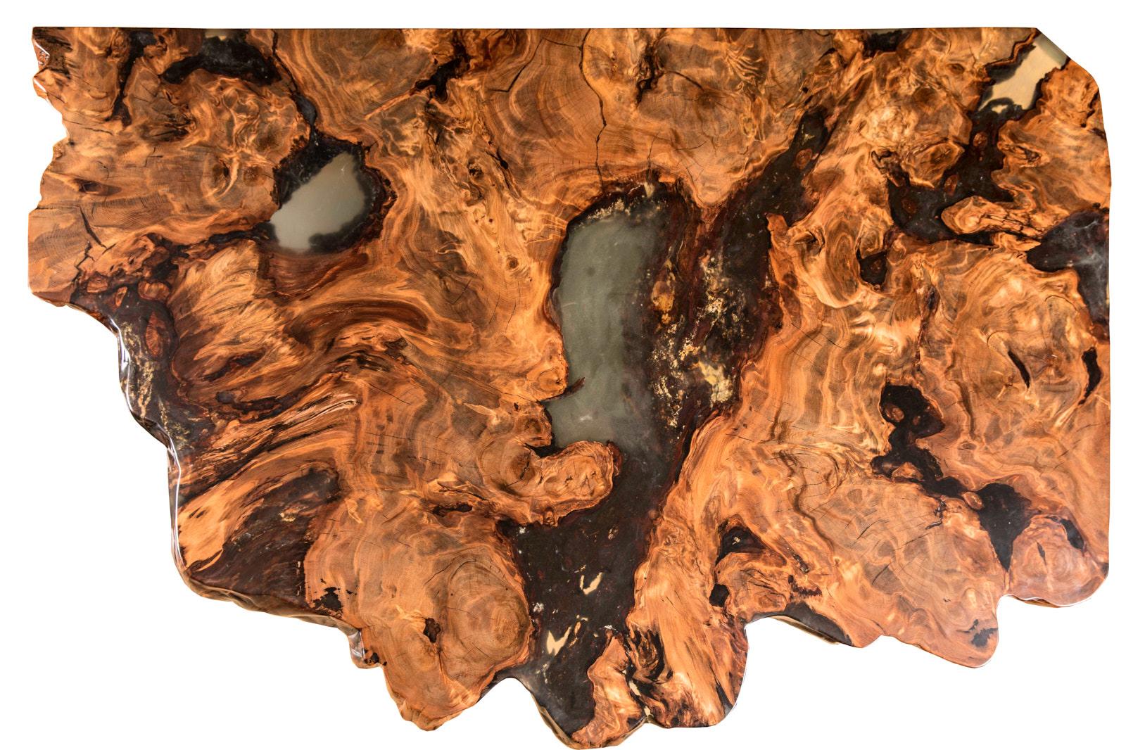 Unverwechselbarer Kauri Wohnzimmertisch für eine moderne Inneneinrichtung, ein Wurzeltisch ein Stück Holz ist dieses Einzelstück Designer Esstisch
