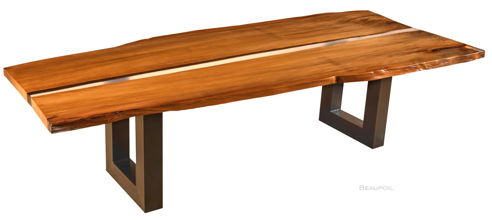 Einzigartiges Tischunikat aus prähistorischem Kauri Holz als River Table mit hochwertiger Qualität und feuchtigkeitsresistenter Oberfläche, Esstisch in Handarbeit