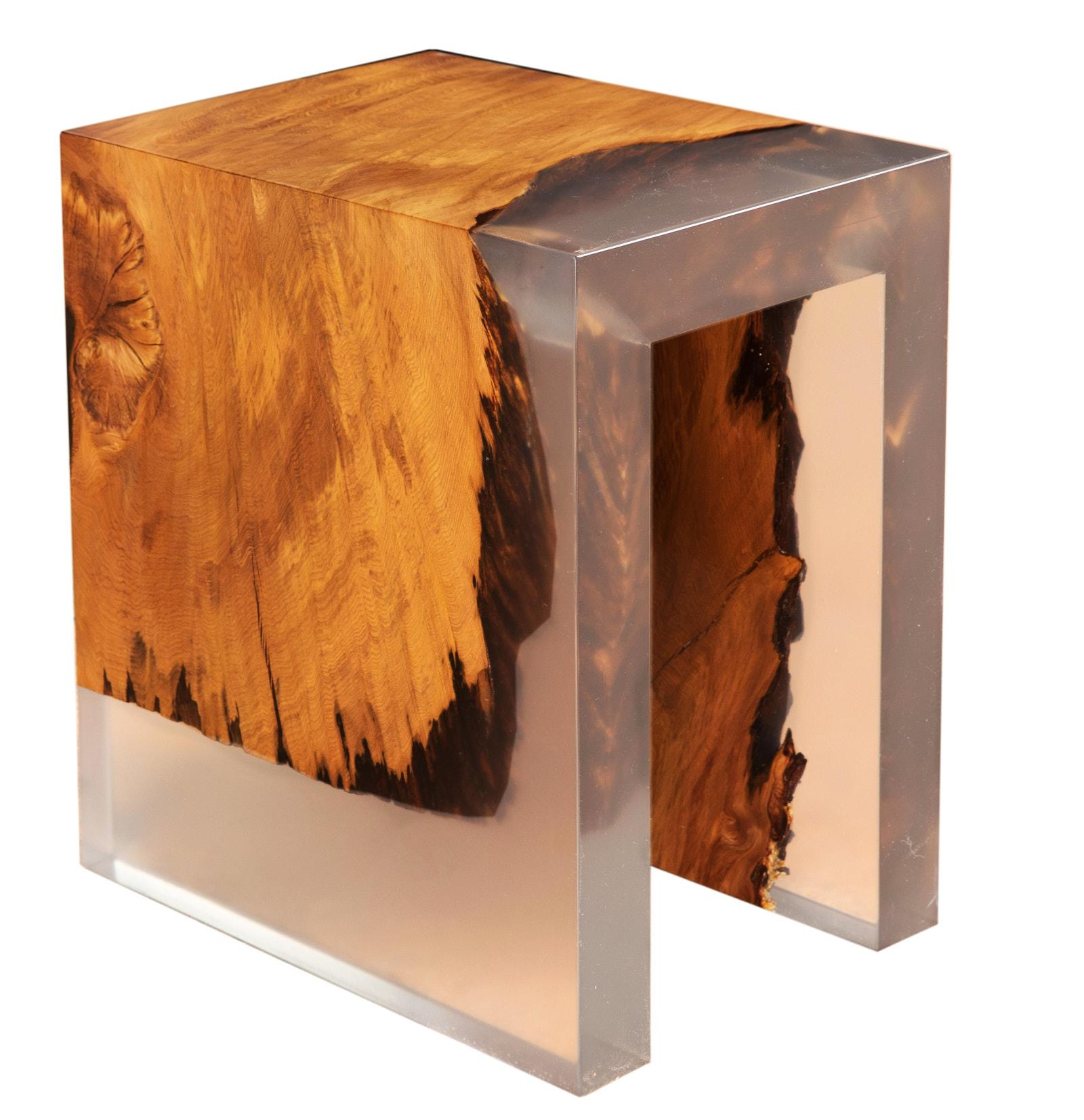 Individuelles Möbeldesign ist dieser Unikat Kauri Wurzelhocker handgefertigt, unvergleichliche Designermöbel und Designtische