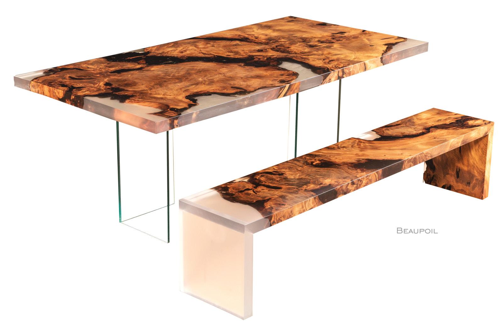 Exklusive Designmöbel und Wertanlage ist dieser einmalige Designertisch aus Kauri Wurzelholz, individuelles Möbeldesign und limitierte Luxus Unikate