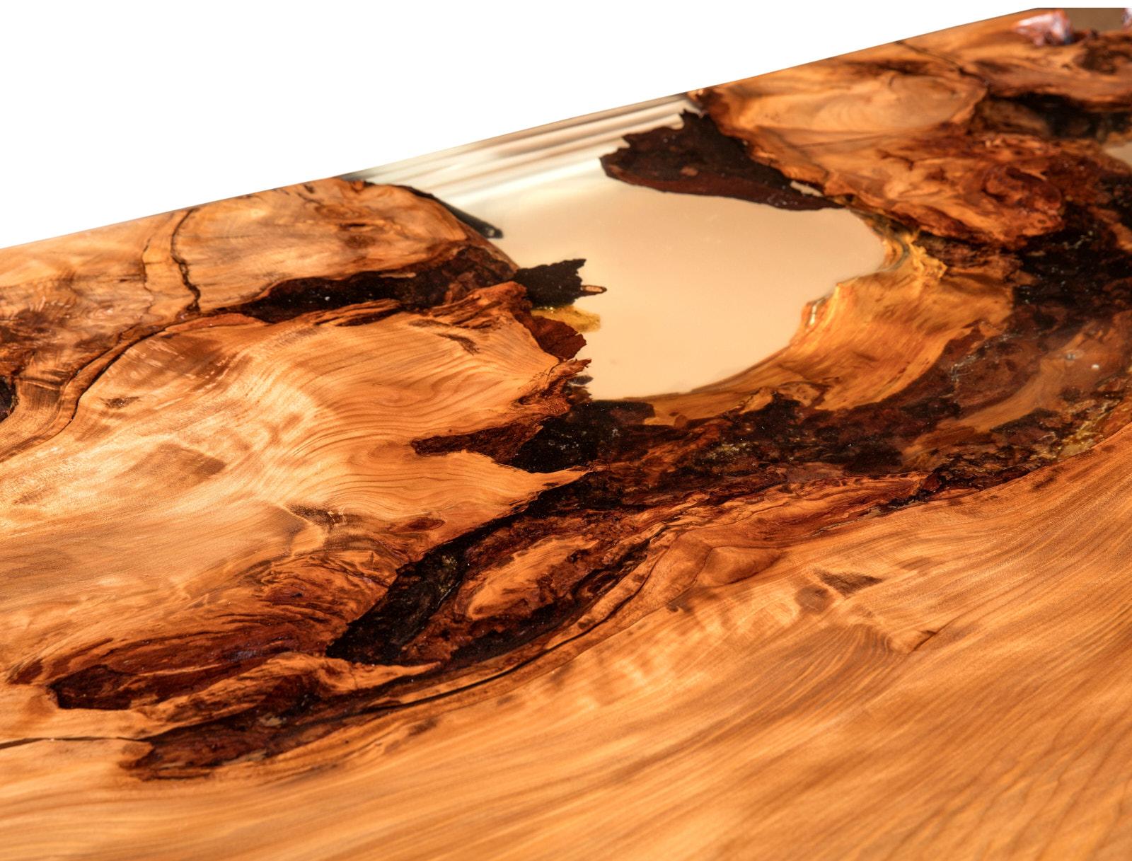 Einzigartige Konferenztischplatte als natürlicher Baumtisch ein Natur Kunstwerk, Holztisch aus Wurzel Stamm