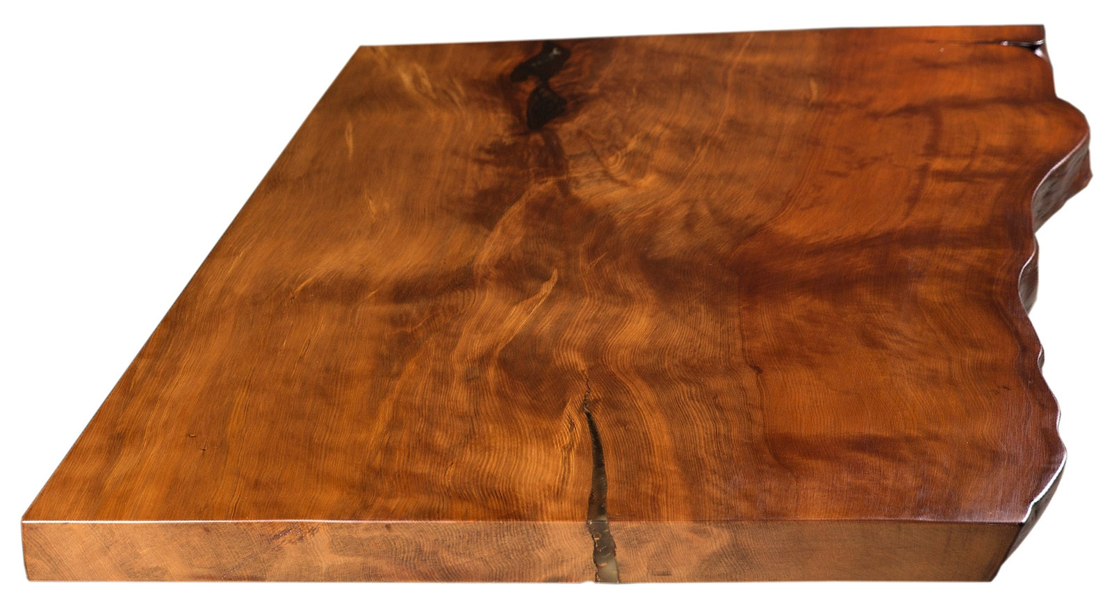 Kunstvolle massive Kauri Tischplatte vom Besprechungstisch und Konferenztisch an einem Stück mit Baumkante