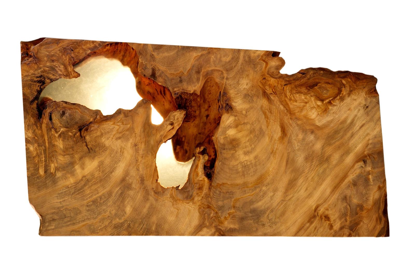 Außergewöhnliche Holzskulptur aus Kauri Wurzelholz als Kunstobjekt oder Couchtisch