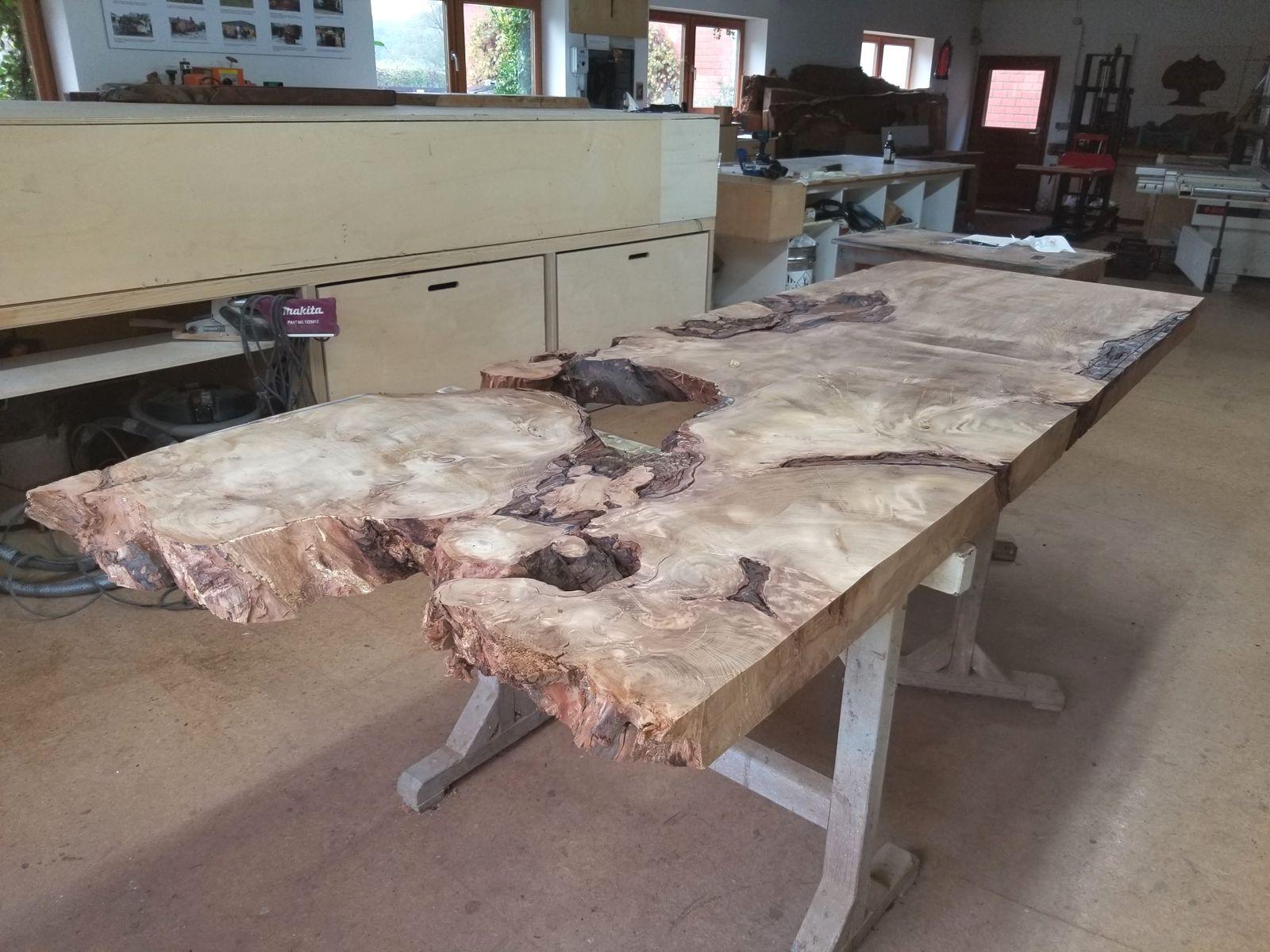 Unbearbeitete Kauri Wurzel Tischplatte