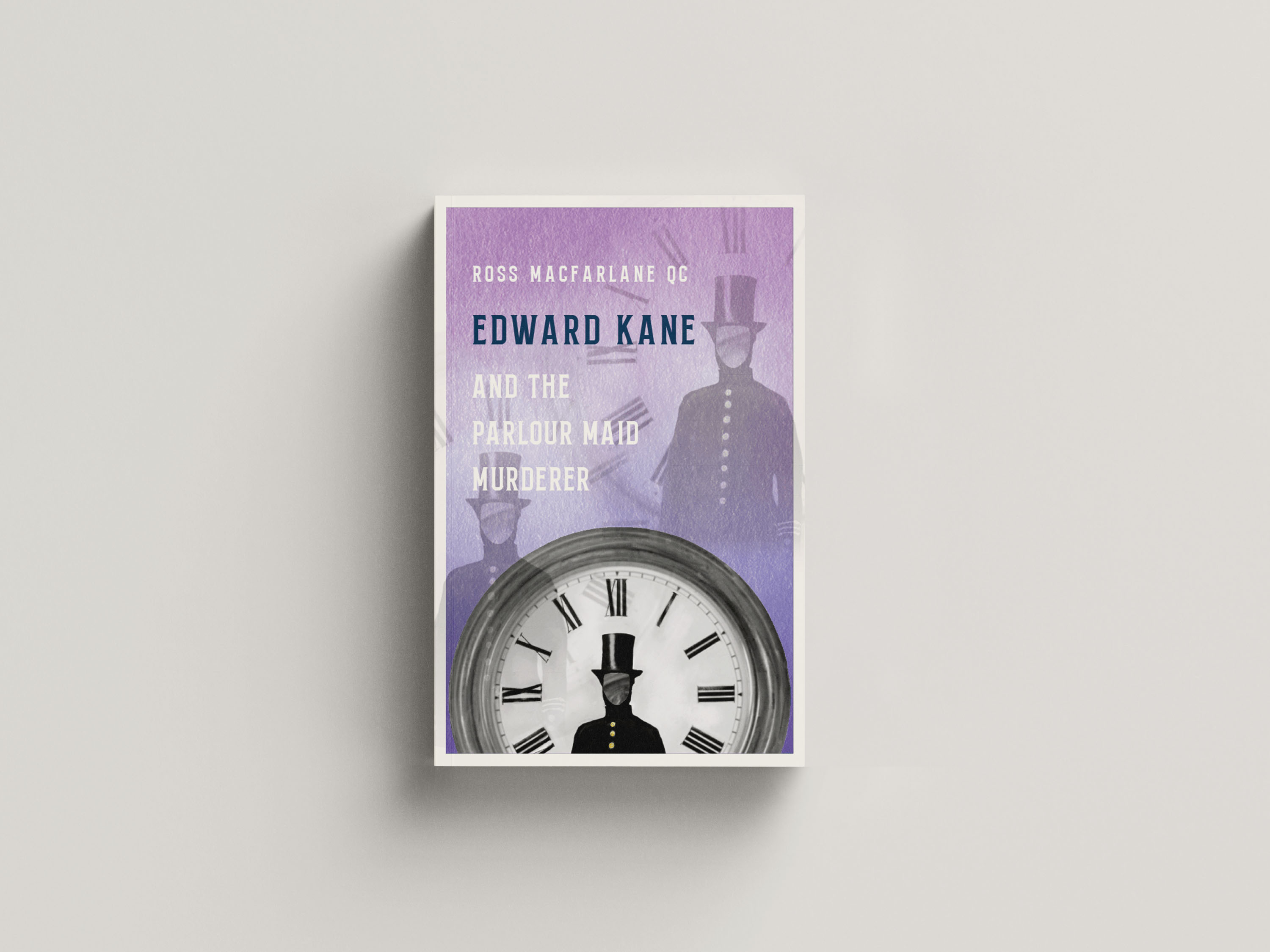 A clockface with a policeman in the centre on a purple background