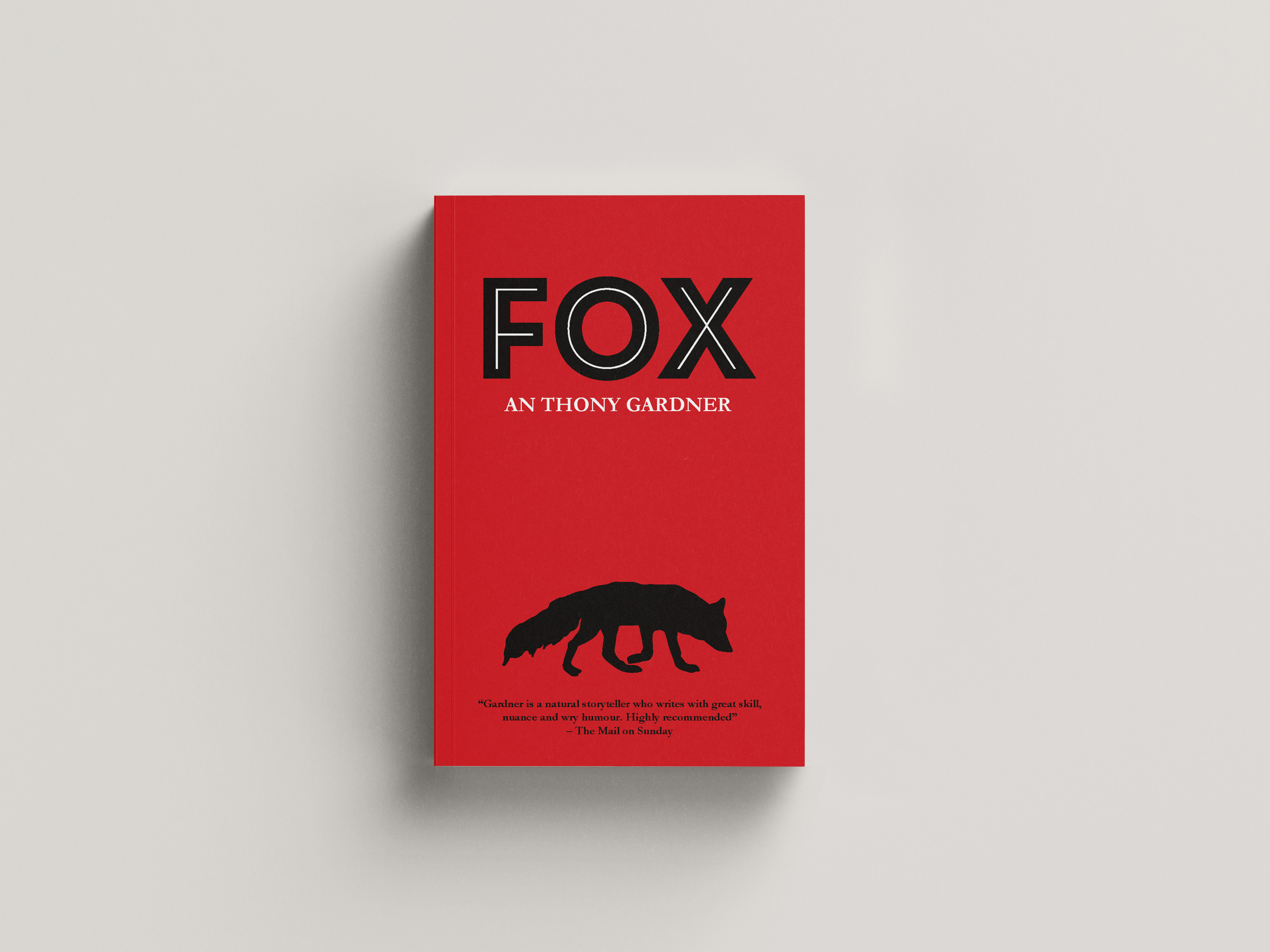 image of a fox on a red background