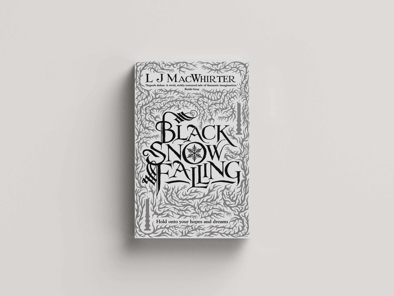 Gothic swirls and ornamentation around a flourished text