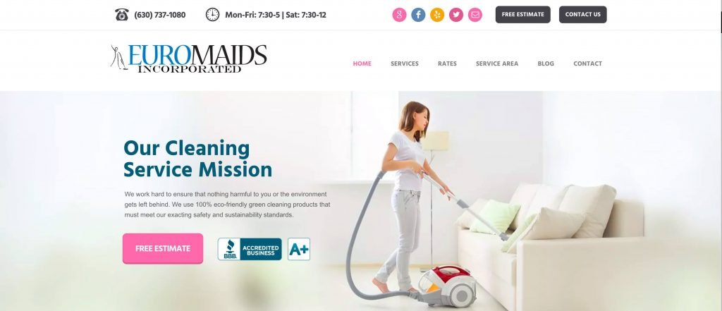 Euro Maids of Naperville IL Commercial and residential cleaning