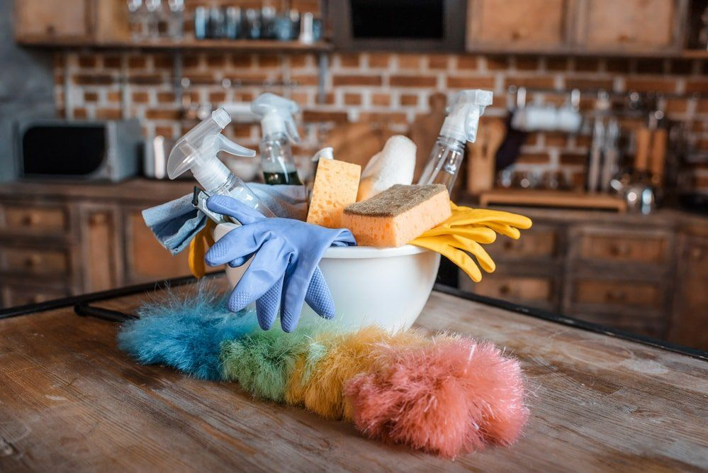 Maid Services using cleaning equipment