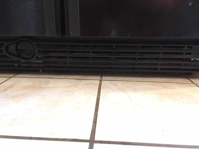 dirty fridge coils cleaning