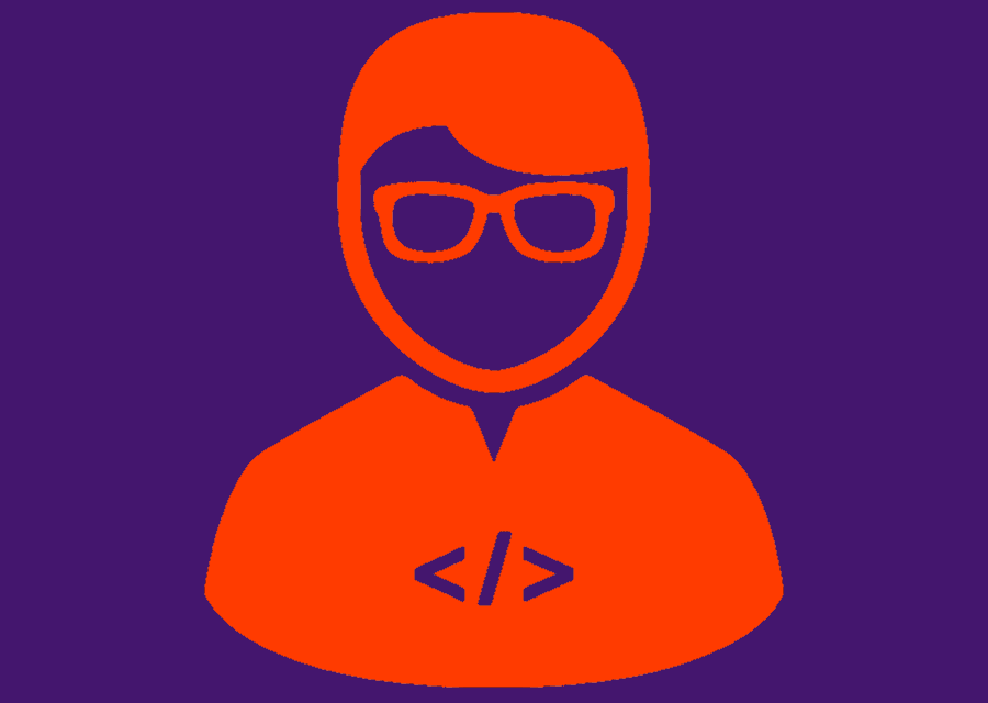 Dummy avatar of person with glasses and beard