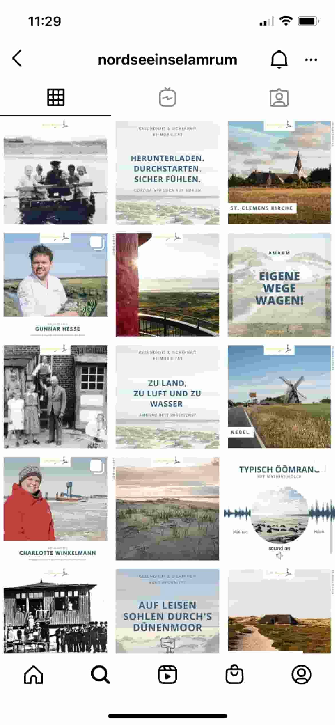 Nordseeinsel Amrum Instagram Feed Mockup