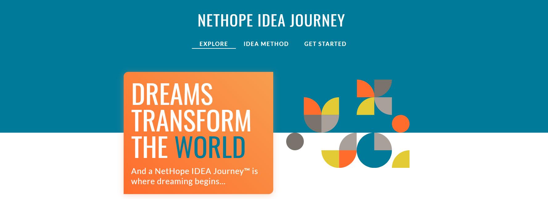 NetHope IDEA Journey landing page, written by Stone Barrell