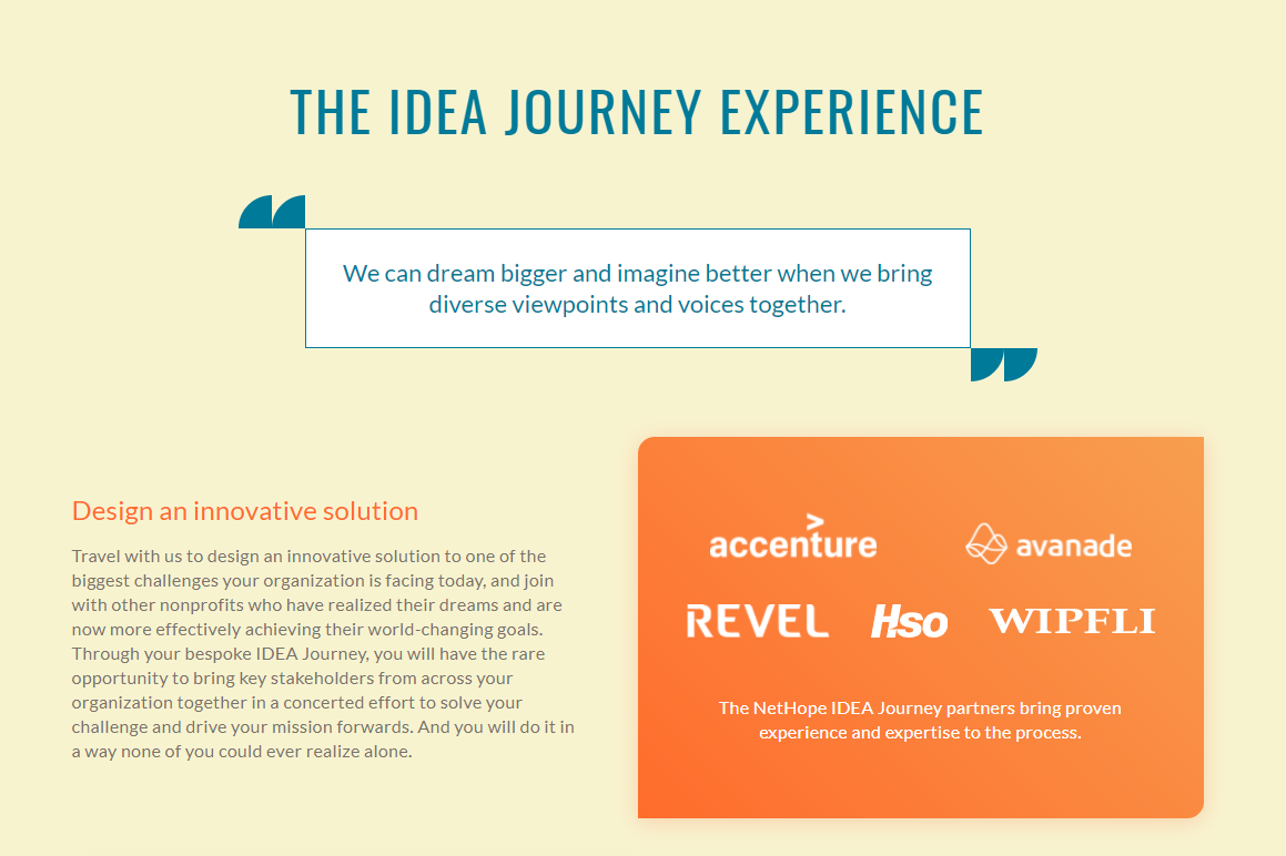 IDEA Journey experience, written by Stone Barrell