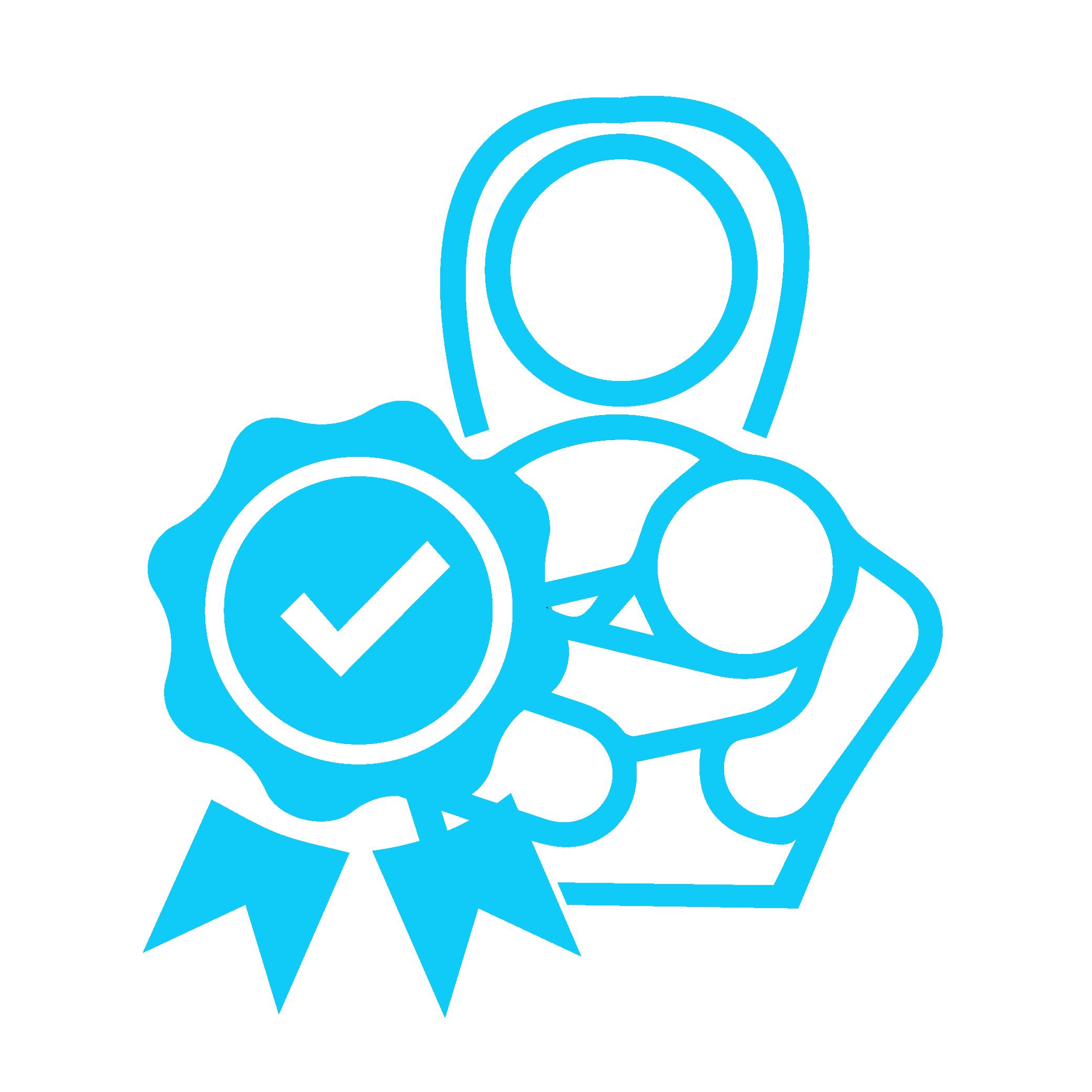 Icon zeigt eine zertifizierte Nanny mit Baby im Arm