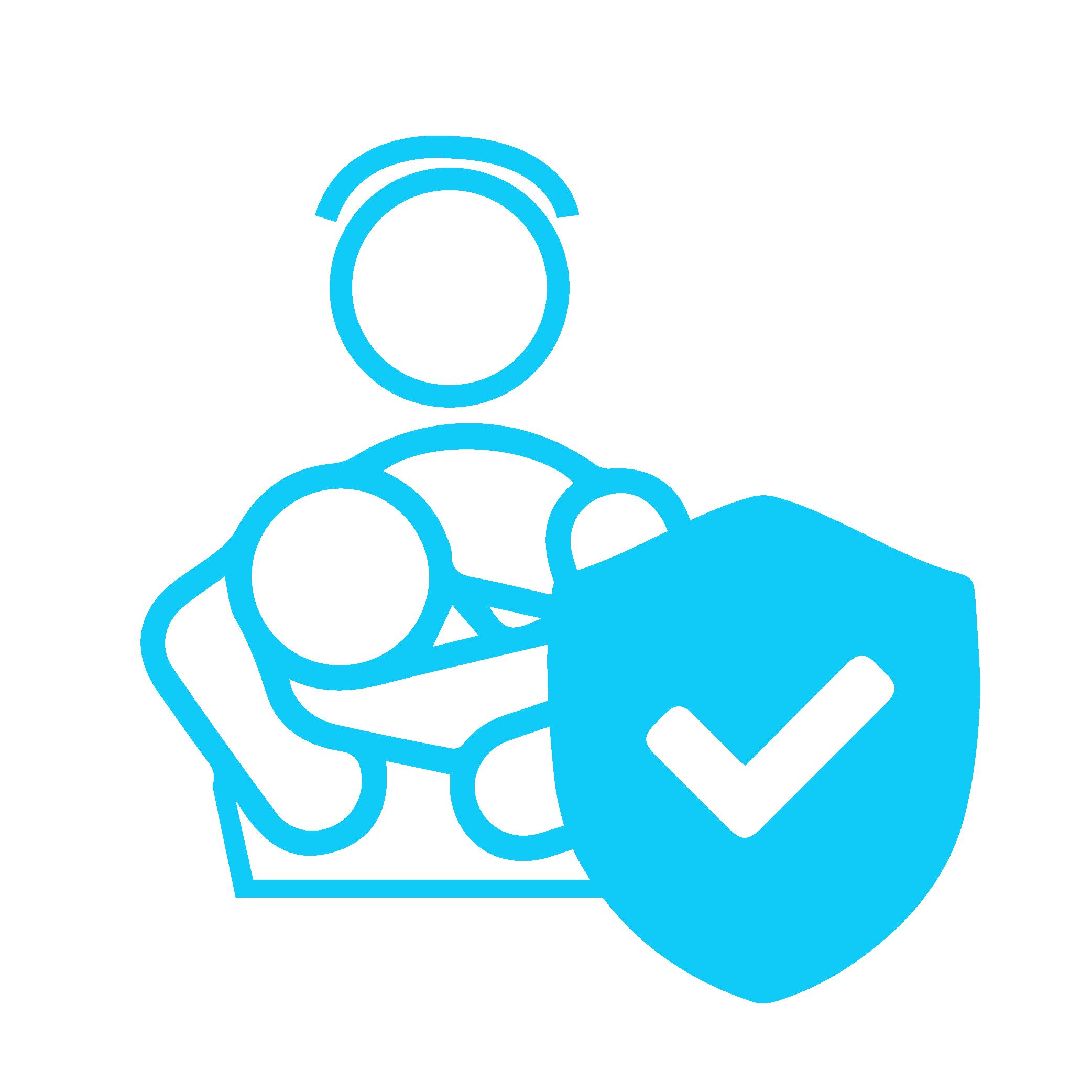 Icon zeigt Nanny mit Versicherungsschutz
