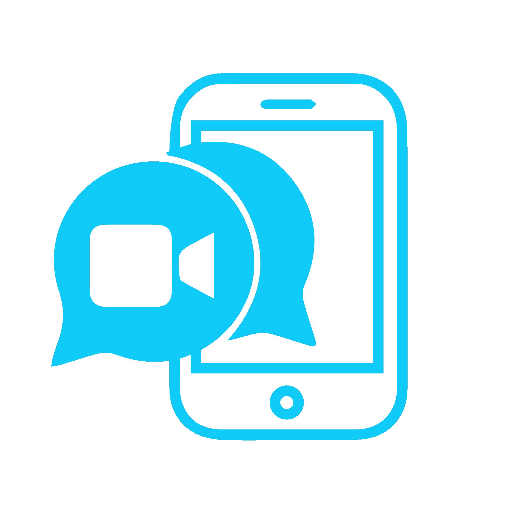 Icon zeigt Handy mit Videochat Option
