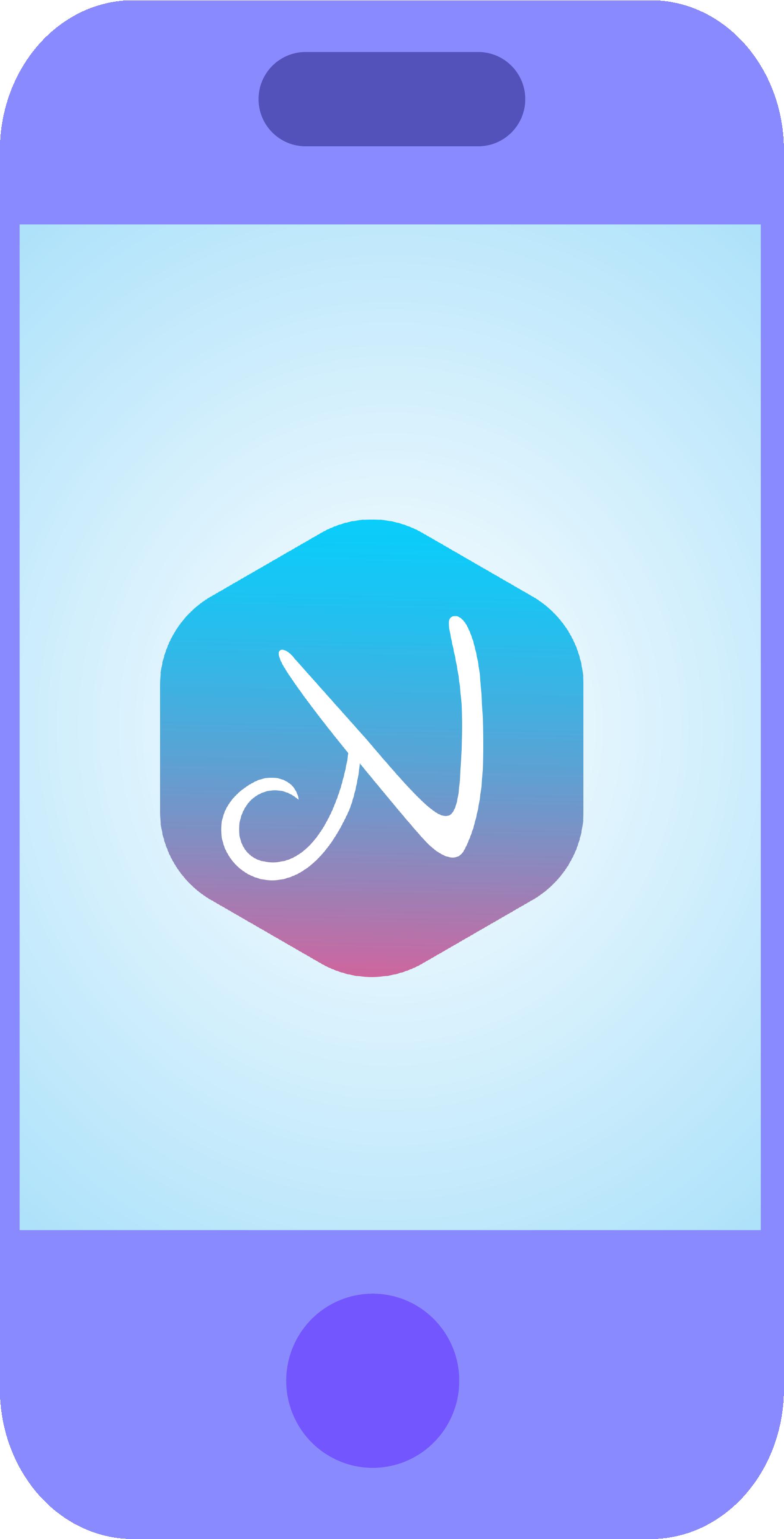 Illustration von einem Handy mit nannyly Logo