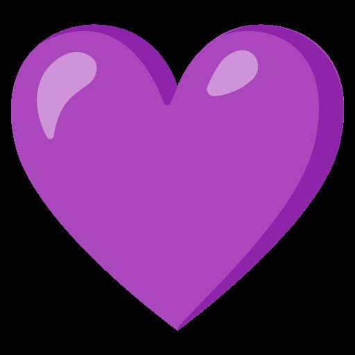 Herz Illustration in Violett