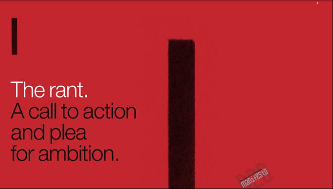 CTA & plea for ambition